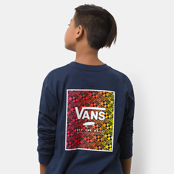 Boys Print Box Back Long Sleeve T-Shirt