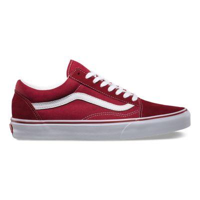 vans blanche trait rouge