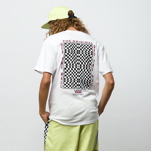 Warped Check Short Sleeve T-Shirt