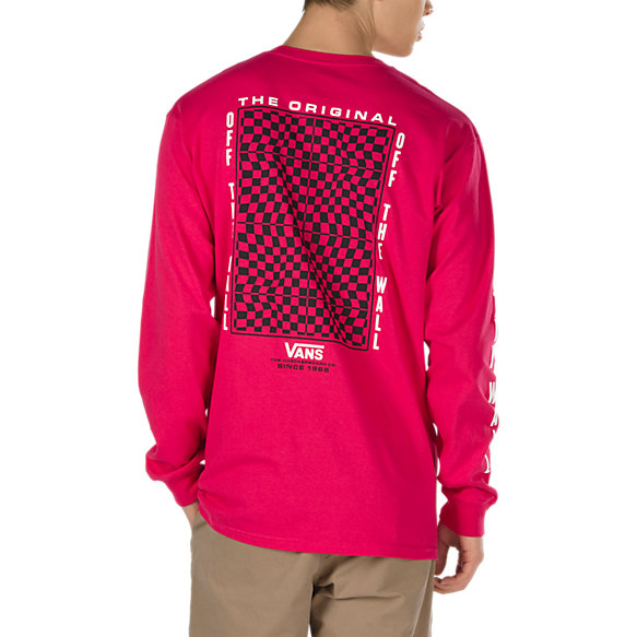 Warped Check Long Sleeve T-Shirt