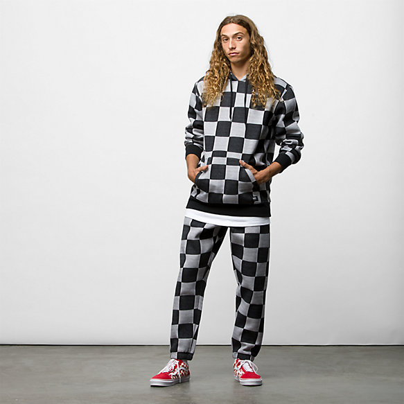 Checker Jacquard Pullover