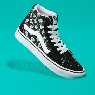 Vans Scribble Flower ComfyCush Sk8-Hi (Daisy/Black)