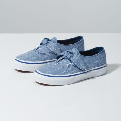 381039ad97 Vans Kids Lace Chambray Authentic Knotted