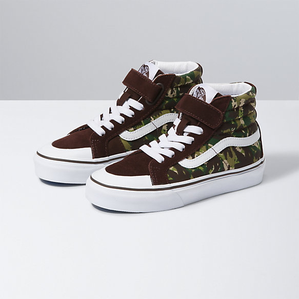 Kids Animal Camo Sk8-Hi Reissue 138 V
