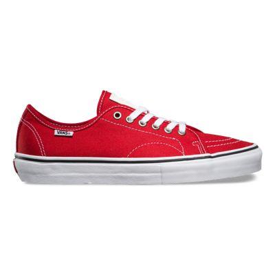 Vans Store Vans AV Classic Anthony Van Engelen Shoes RedWhite Canvas