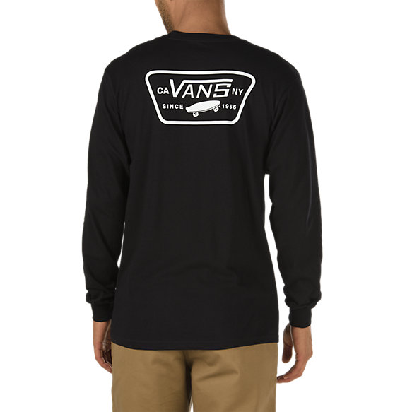 full patch back long sleeve t shirt shop at vans. Black Bedroom Furniture Sets. Home Design Ideas