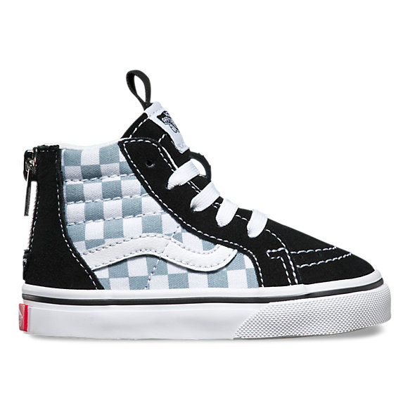 Toddlers Checkerboard Sk8 Hi Zip