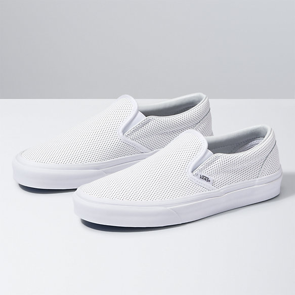vans all white leather