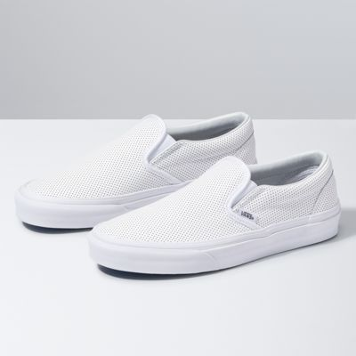 Buy Men Shoes / Vans Classic Slip On Perf Canvas Shoe Leather