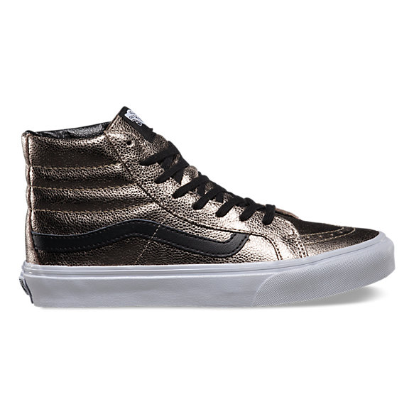 Metallic Leather SK8-Hi Slim
