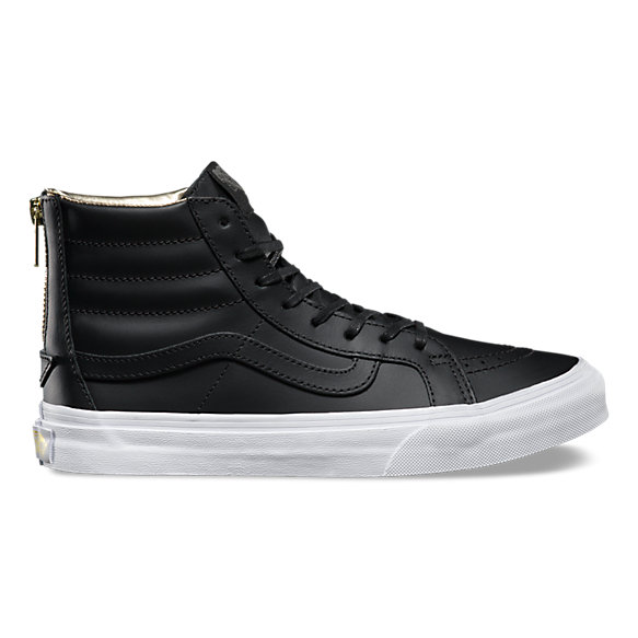 Leather SK8-Hi Slim Zip