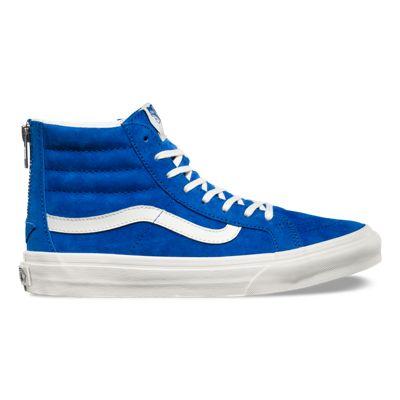 Free delivery -  Vans Scotchgard SK8-Hi Slim Zip Womens Shoes Blue Graphite