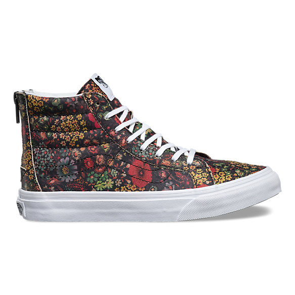 Floral Leather SK8-Hi Slim Zip