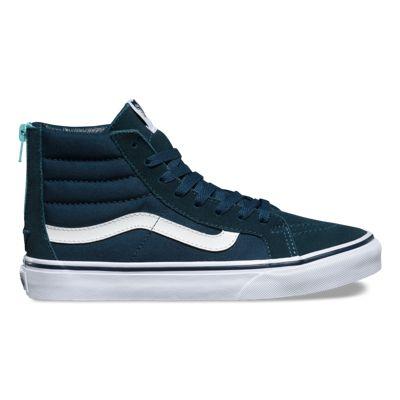 """Vans Men's Shoes """"Sk8-Hi Slim Zip"""" -- (Pop) Midnight Navy"""
