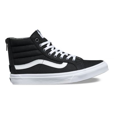 SK8-Hi Slim Zip Tweed Dots Black/True White Skate Shoes