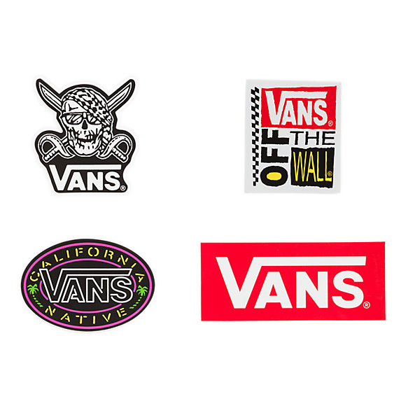 Vans Assorted Skull Sticker 4 Pack