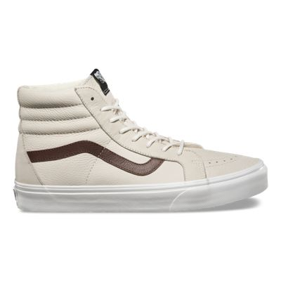 Buy Popular Mens Casual Shoes - Vans Sk8 Hi Reissue (Leather) Blanc De Blanc/Potting Soil