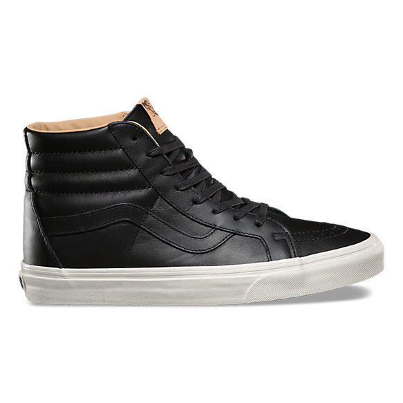 vans leather all black