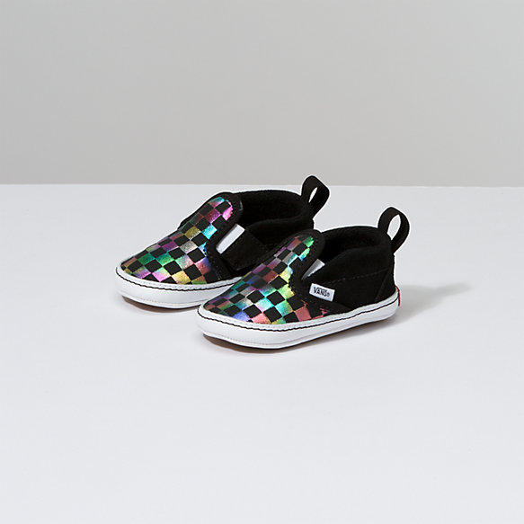 Infant Iridescent Check Slip-On V Crib