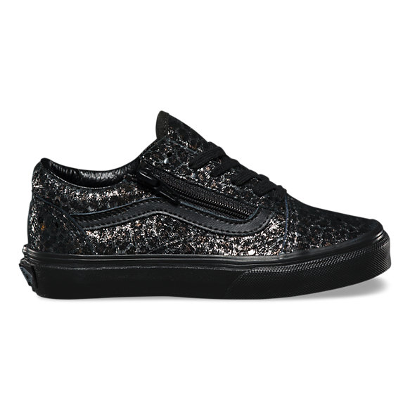 kids old skool vans black