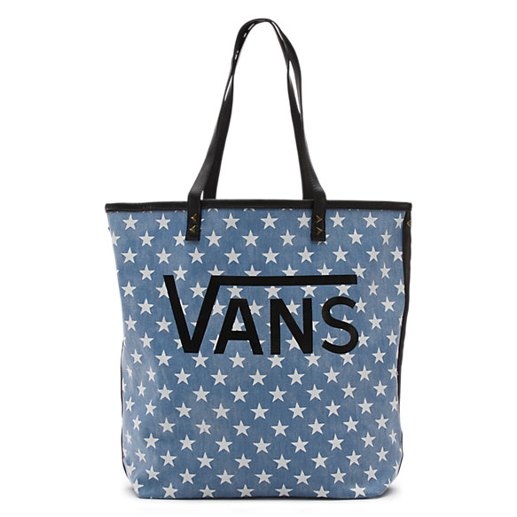 Denim Stars Two-Tone Tote