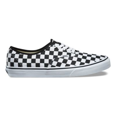 vans checkered black white