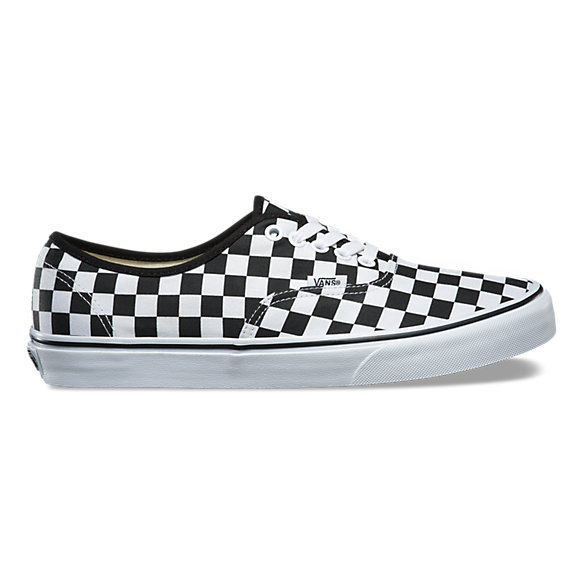 red and white checkerboard vans with laces