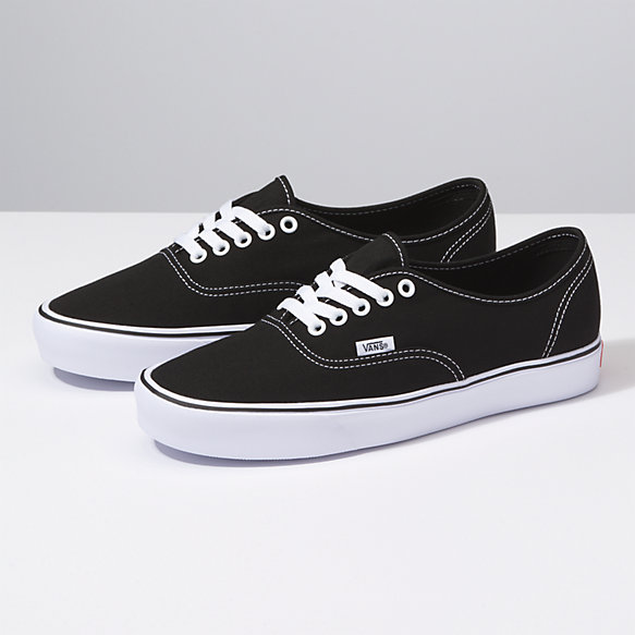 authentic vans black and white