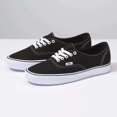 UK Free delivery Vans Authentic Lite Womens Shoes Canvas BlackWhite