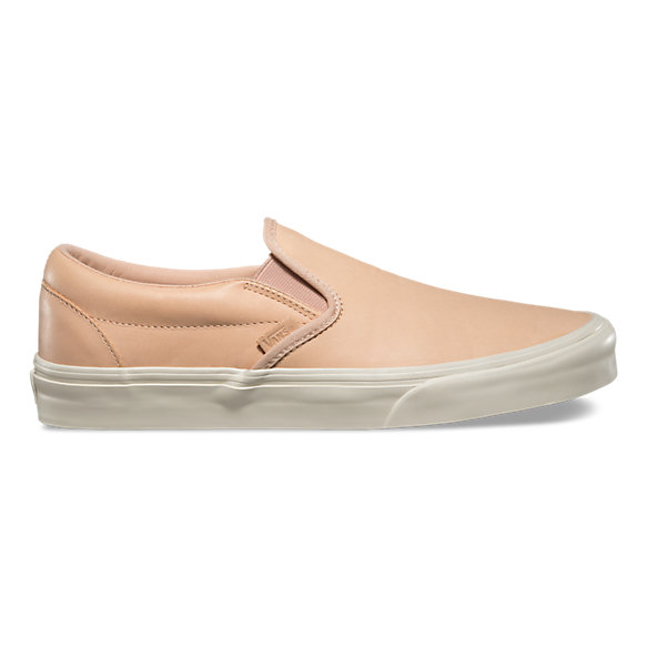 vans slip on brown