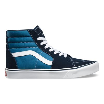 Recommend Mens Casual Shoes - Vans Sk8 Hi Lite (Suede/Canvas) Navy/White