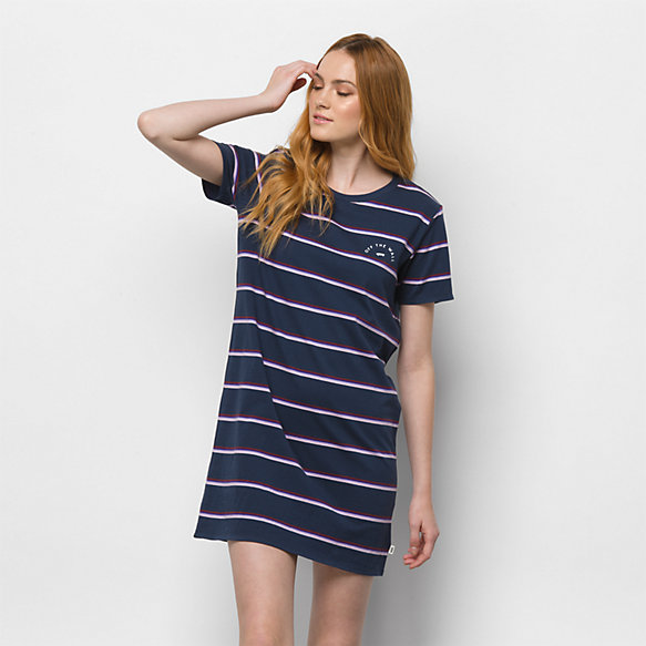 Chromatic Stripe Dress