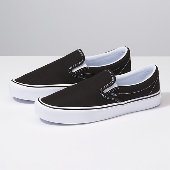 Vans Unisex Slip on Lite Checkerboard Slip on Trainer Black/White-Black-4 Size 4