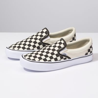checkerboard vans slip on near me