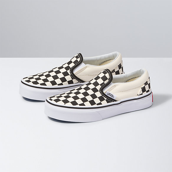 VANS Checkerboard Classic Slip On Iris & True White Girls