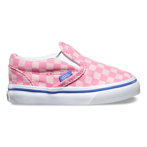 vans checkerboard infant slip on crib shoes