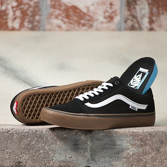 vans authentic pro shoes black gum nz