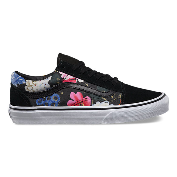 floral old skool shop womens shoes at vans. Black Bedroom Furniture Sets. Home Design Ideas