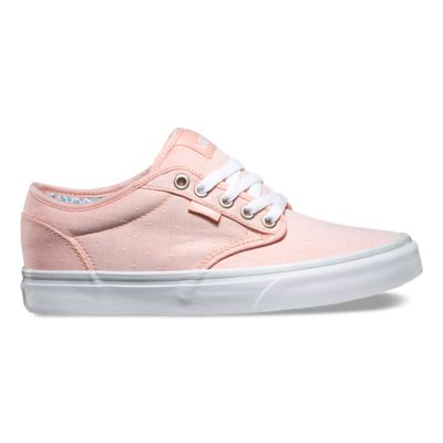 UK Fashion style Vans Atwood Womens Shoes Woven Polka Pastel Coral