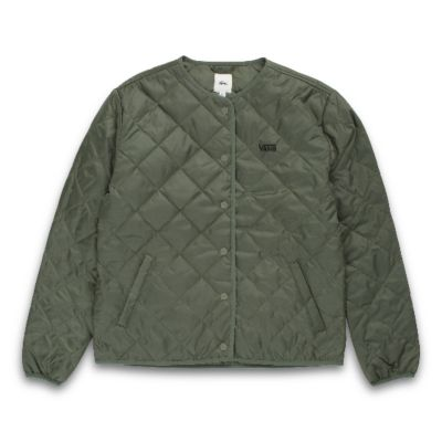 Forces quilted jacket thyme