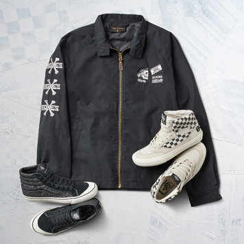 Supply Lab Lance Black Slip On Sneakers