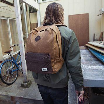vans m old skool plus backpack waxed