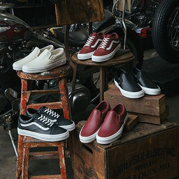 2dacda0cdd00 Vans Drops New Moto Leather Classics
