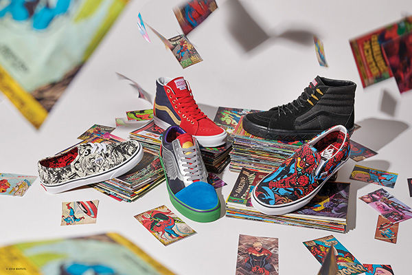 Vans new Marvel inspired shoes are available for all ages