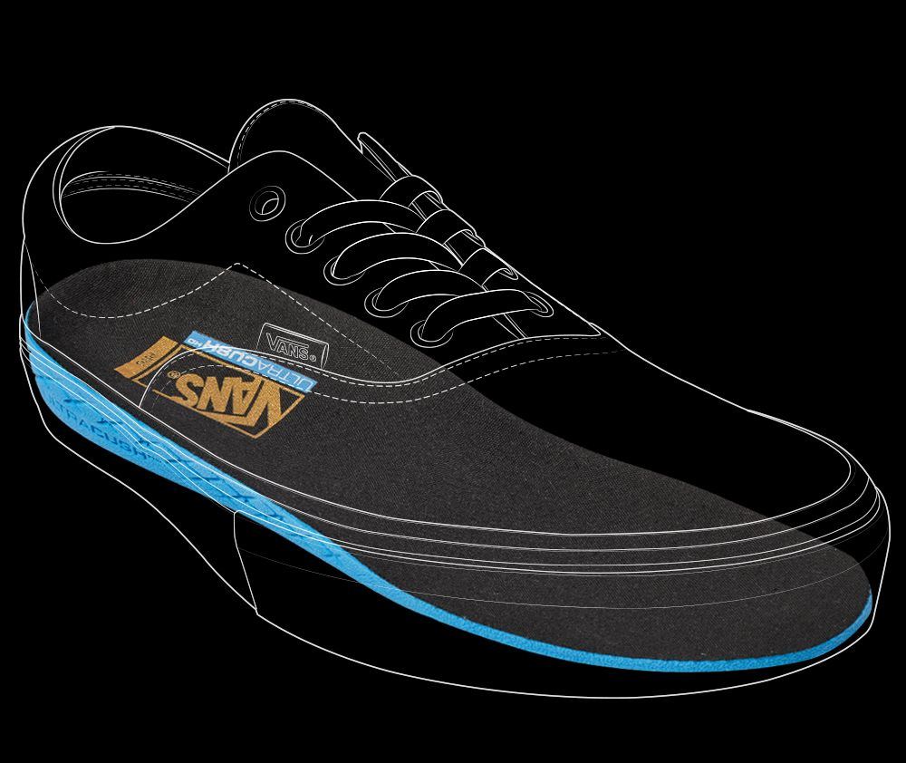 Vans  polyurethane-based ULTRACUSH™ HD footbed keeps the foot close to the  board 29f383ced