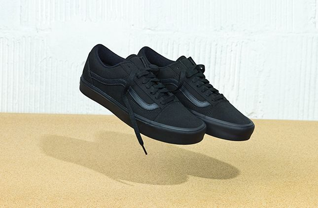 vans shoes man black
