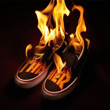 d61fd997d5acd1 Vans Commemorates Thrasher Magazine s Iconic Flame Motif