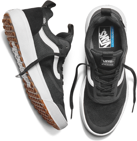 vans ultrarange black and white