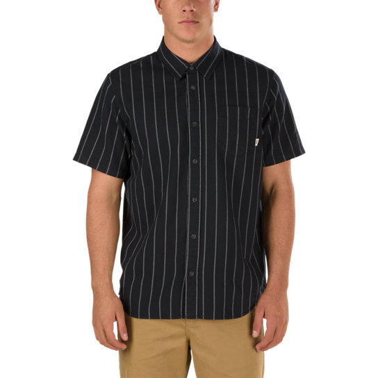 Gibert Crockett Stripe Short Sleeve Shirt | Vans