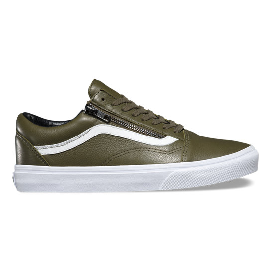 Antique Leather Old Skool Zip Schoenen | Vans